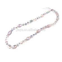 Glaskristall Perlen Halskette