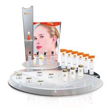Exhibición de acrílico de la alta calidad para los cosméticos, exhibición formada redonda del maquillaje