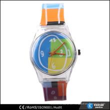 Crianças coloridas de plástico colorido para crianças, relógio infantil barato