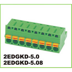 3.81mm Pitch Green Connector 2p-4p Bloque de terminales enchufable