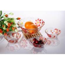 Hot Sale 7PCS Glass Bowl Sets with Color Spray (TZ7-GB16006P/BHP)