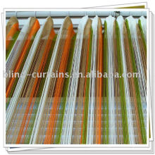 Multicolor thread curtain