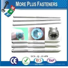 Fabriqué à Taiwan Spécial Double End Shoulder Trilobular Screw