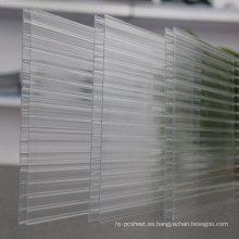 Hoja de policarbonato Fabricante de hojas de múltiples muros para hojas de tejado Skylight 10 años de garantía