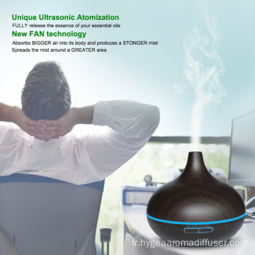 Top Vente Bambou Spa Ultrasons Aroma Humidificateur 400 ml