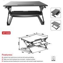 """Loctek 35 """"Wide Platform Height Ajustável Stand Desk Riser, Sit-Stand Workstation, Black (MT102M)"""