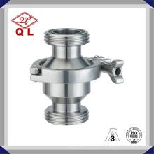 Válvula de retención vertical o horizontal de hilo sanitario