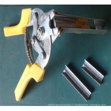 Outils d'assemblage de cage de calage - pinces