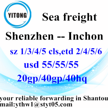 Shenzhen à Inchon Container Shipping Service