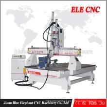 ELE 1325 Multi-cabeza máquina de grabado de madera precio del fabricante / china enrutador cnc de madera