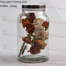 5.5L Glas Saft Getränkebecher mit Hahn / Big Capacity Glas Mason Jar mit Scale