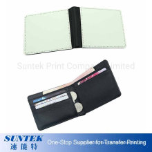 Sublimation Blank Men Deluxe PU Canvas Fabric Wallet