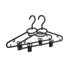 Wholesale Factory Directly Black Cheap Price Plastic Hanger With Clips For Clothing