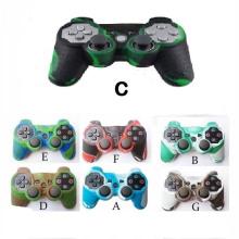 12 capa de controle de camuflagem de borracha para acessórios para ps3 Pele do controlador do botão de pressão