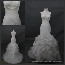 Strapless Mermaid Ball Bridal Feather Wedding Dress Bjmnls098