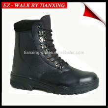 Легкий вес черный кожаный военные ботинки