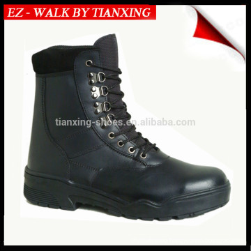 Light weight Black leather Combat boots