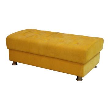 Желтая скамейка для мебели гостиницы
