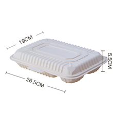 Biodegradable 4 Compartment Disposable Food Lunch Box 1000ml /Disposable Corn Starch Food Container