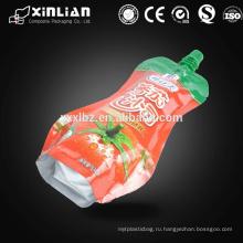 Пластиковый пакет для упаковки сока с носиком