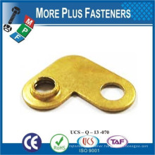 Made in Taiwan Stamping Parts For Connector Brass Material Custom Made Stamping Part