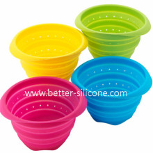 Collapsible Wash Vegetable Silicone Strainer