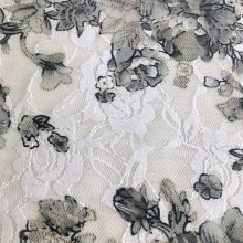 Printed Poly Lace Fabric