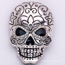 Venta al por mayor Blacken Fábrica De Zinc Aleación Broche Cráneo Moda Joyería