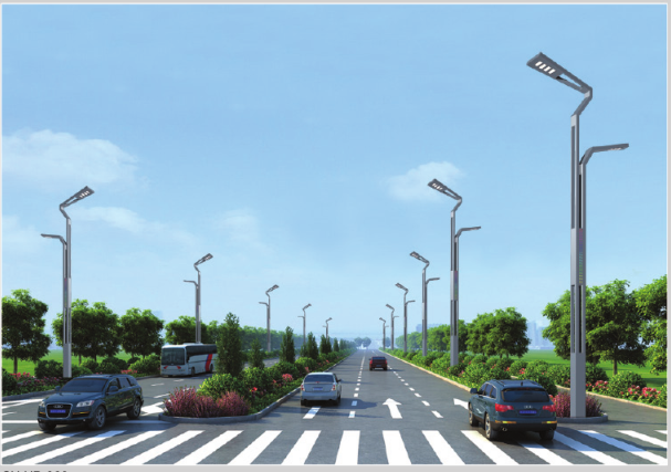 Multiple modular street lamps