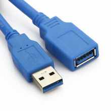 a Male to a Female Assembly Wire USB 3.0 Cable