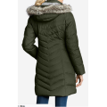 Populer Fur Hoodie Down Padded Long Parka Women