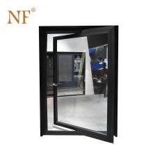 Main entrance double glass aluminum pivot home doors