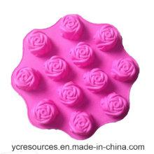 12 Stück, Rose Design Kuchenform, Silikon