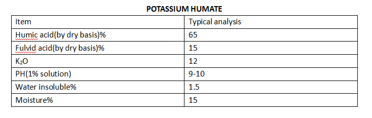 Potassium Humate-Water Soluble Humic Acid With Potassium