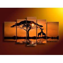 Beautiful African Art Landscape Oil Painting (AR-102)