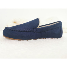 Manufacturers Direct Selling Faux Shearling Indoor Shoes Men Suede Comfort Home Hard Wearing Slippers