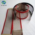 Tissu de fibre de maille de téflon et ceinture 4 * 4 millimètres de couleur marron de Chine