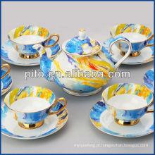 Fábrica de porcelana elegante china de osso conjunto de chá conjunto de chá