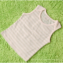 Organic Cotton Baby Green Striped Vest