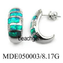 Opale boucle d'oreille bijoux (YE00010)