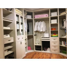 Customized White Walk in Wardrobe Closet (avec beaucoup de couleurs)