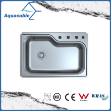 Above Counter Stainless Steel Moduled Kitchen Sink (ACS 8355M-UP)