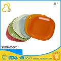 high quality best selling products 12 inch plastic square bamboo plate