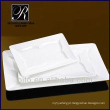 P & T chaozhou fábrica de porcelana placa retangular, placa de carne, placa de jantar jantar restaurante