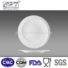 Porcelain fine bone china hotel used round dinner plates