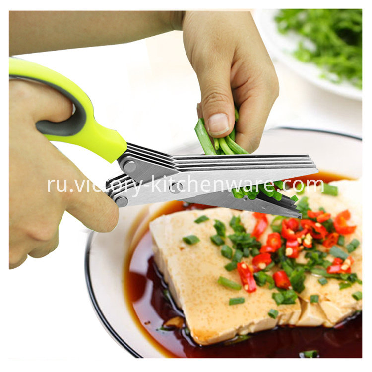 kitchen shear with cleaning brush