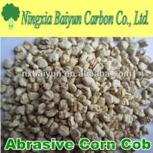 Grão abrasivo de espiga de milho para polir
