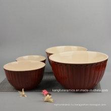 4шт цветные Глазурованная Керамическая посуда чаша