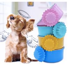 Haustier-Schüssel für Käfig-Edelstahl-hängende Hundekatze-Vogel-Nahrungsmittelschüssel, zum des Käfigs zu befestigen