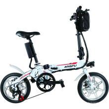 Bicicleta elétrica dobrável para pneus gordos